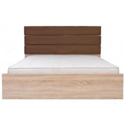 Manželská posteľ s čalúneným čelom