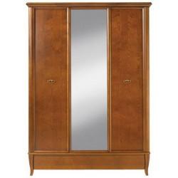 Masívna trojdverová skriňa so zrkadlom