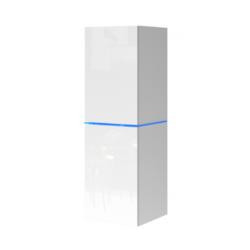 Visiaca skrinka Domino - biely/biely lesk