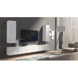 Obývacia stena Domino 3 - biela