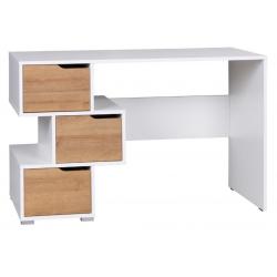 PC stôl Iwa - biela/dub zlatý