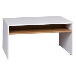 Konferenčný stolík Iwa - biela/dub zlatý