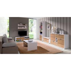 Zostava do obývacej izby Iwa 5 - biela/dub zlatý