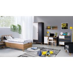 Detská izba Memone - grafit+biela/dub zlatý