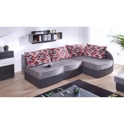 Rohová sedačka LIDO - alcala 22/soft 20/vankúše amber 71- pravé prevedenie