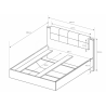 Manželská posteľ Arden - rozmery
