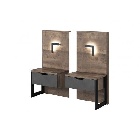 Nočné stolíky Arden v osvetlením