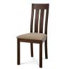 Masívna jedálenská stolička BC-2602 TR3 (orech/béžový poťah)