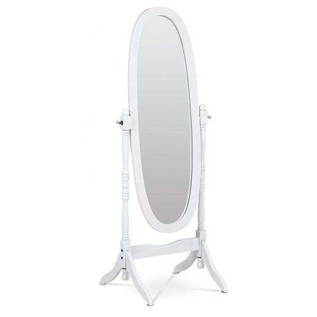 Zrkadlo v drevenom ráme - biela
