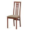 Jedálenská stolička z masívu BC-2482 - čerešňa/béžový poťah (TR3)