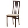 Jedálenská stolička z masívu BC-2482 - orech/béžový poťah (WAL)