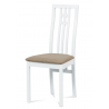 Jedálenská stolička z masívu BC-2482 - biely masív/béžový poťah (WT)