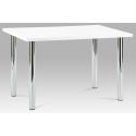 Biely lesklý jedálenský stôl AT-1914