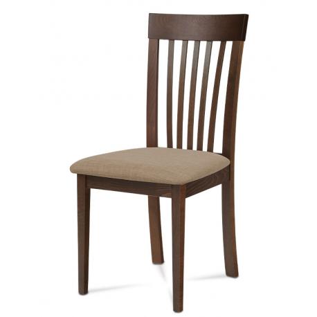 Drevená stolička v troch prevedeniach BC-3950 - orech/béžový poťah