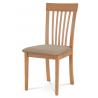 Drevená stolička v troch prevedeniach BC-3950 - buk/béžový poťah