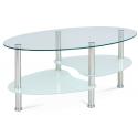 Oválny sklenený konferenčný stolík GCT-301