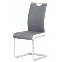 Jedálenská stolička v sivom a hnedom prevedení DCL-410