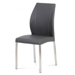 Šedá jedálenská stolička HC-381