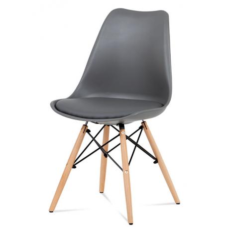 Jedálenská plastová stolička CT-741- sivá