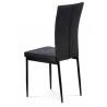 Jedálenská stolička AC-9910 -čierna, imitácia brúsenej kože