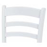 Jedálenská stolička z bieleho masívu AUC-004