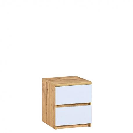 Nočný stolík ARCA AR10 - dub wotan/biela