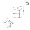 Nočný stolík ARCA AR10 - rozmery