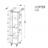 Úzka skriňa Lofter 2