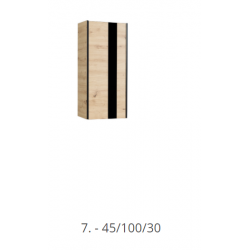 Závesná skrinka  Flix 7  dub artisan/čierna