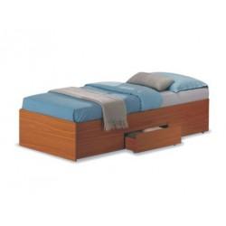 Jednolôžková posteľ s roštom a šuplíkmi