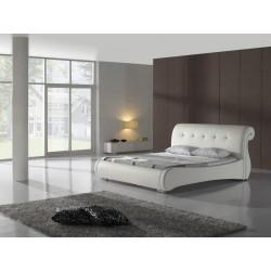 Biela posteľ - čalúnená