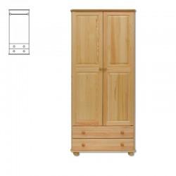 Drevená skriňa s dvomi zásuvkami SF110