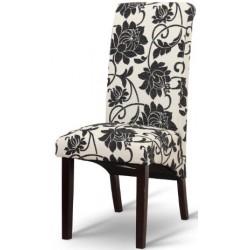 Jedálenská stolička s čiernymi kvetmi