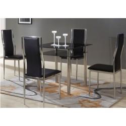 Čierny jedálenský stôl