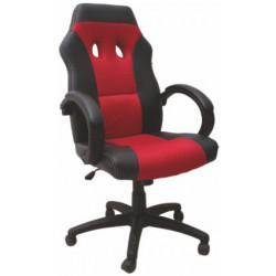 Čierno-červené kancelárske kreslo
