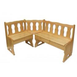 Rohové sedenie z dreva