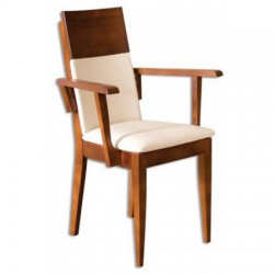 Stolička s čalúnením a opierkami na ruky