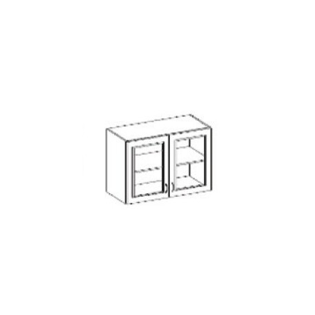 Presklená dvojdverová skrinka Chamonix