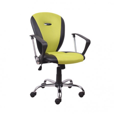 Žlto-čierne kancelárske kreslo