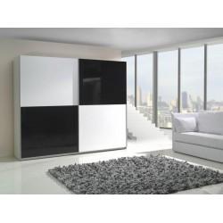 Bielo-čierna skriňa LUX