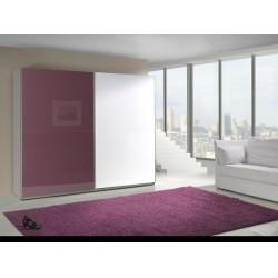 LUX skriňa fialovo-bielej farby