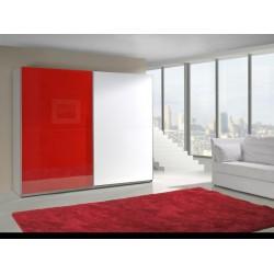 Červeno-biela skriňa