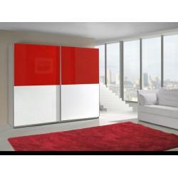 Bielo-červená skriňa