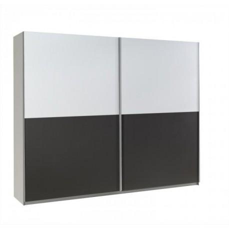 Šatníková skriňa LUX - biela/grafit
