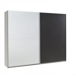 Moderná skriňa - farba biela/grafit