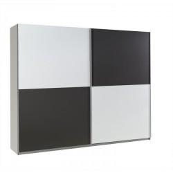 Šachovnicová skriňa LUX -  biela/grafit