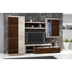 Obývačka vo farbe sonoma/sonoma čokoláda