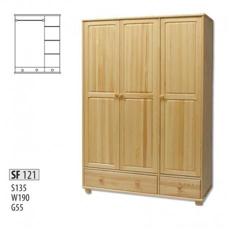 Drevená trojdverová skriňa SF121