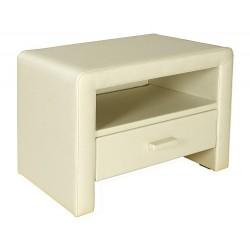 Čalúnený stolík z eko-kože