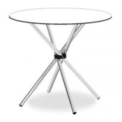 Okrúhly sklenený jedálenský stôl VRATKO